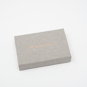 Crystal Glass USB 3.0 with Gray Linen USB Box