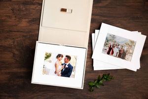Cream 8 x 10 Linen Folio Box