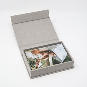 Gray Linen Photo Box