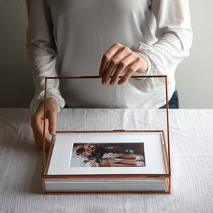 8 x 10 Glass Folio Box