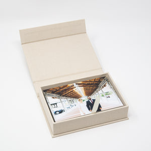 Cream Linen Photo Box