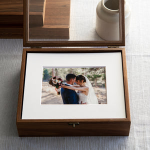 8 x 10 Walnut Folio Box