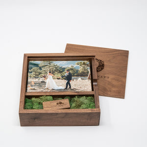 4 x 6 Walnut Photo Box and USB Flash Drive 3.0 (Available End of Jan.)