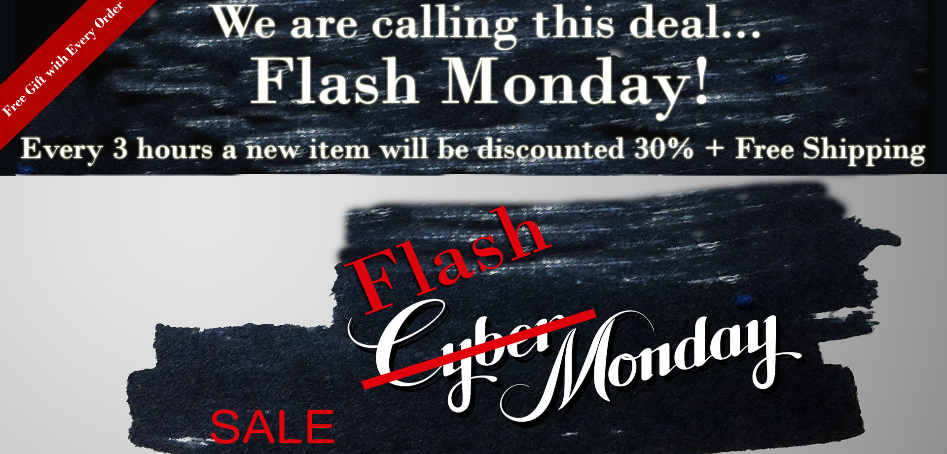 Flash Monday Sale - 30% Off + Free Shipping + Free Gift