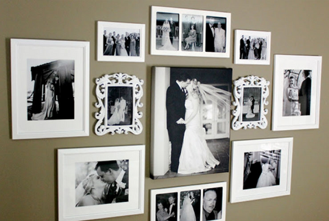 How To Layout Photographs in the Family Room | AGM Home Store