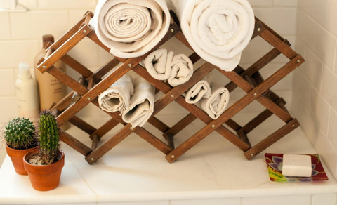 Organizing Your Bathroom With a Wine Rack | AGM Home Store
