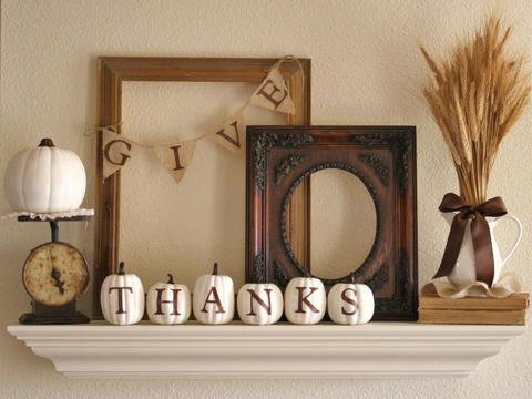 Mantel Piece Thanksgiving Decor | AGM Home Store