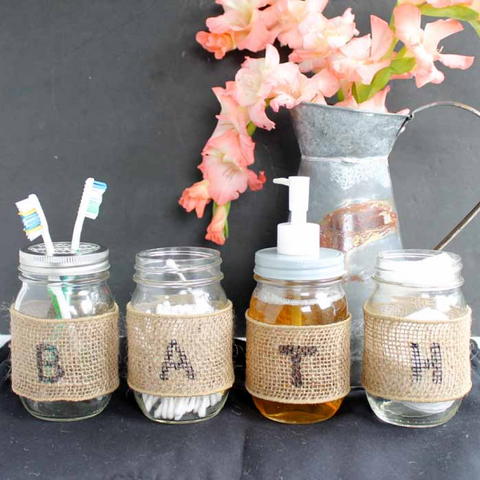 How to Use Mason Jars to Organize Your Bathroom | AGM Home Store