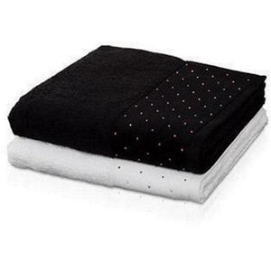 MV Swarovski Crystal Premium Cotton Soft Towels Highly Absorbent Washable - AGM Home Store LLC