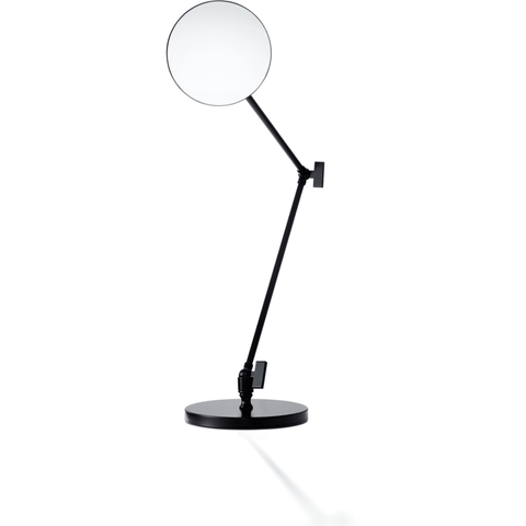 SPT 70 Countertop Cosmetic Makeup Magnifying 5X Swivel and Adjustable Mirror, Black - AGM Home Store LLC