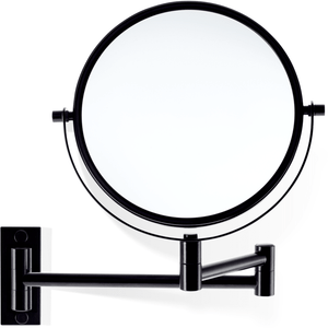 DWBA Wall Double Sided 5X/ 1X Cosmetic Makeup Magnifying Swivel Mirror, Black - AGM Home Store LLC