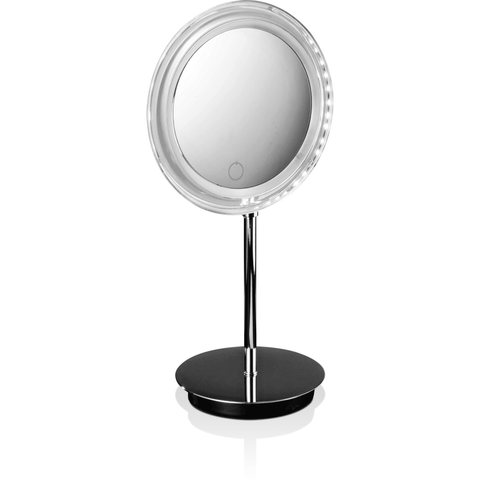 BS 15 TOUCH Touch Table Cosmetic Makeup 5X LED Light Dimmer Magnifying Mirror, Chrome - AGM Home Store LLC