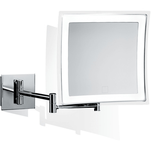 DWBA Touch Wall Cosmetic Makeup 5X LED Light Dimmer Magnifying Mirror, Chrome - AGM Home Store LLC