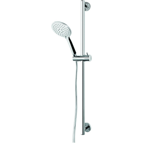 ME Victoria Steel Sliding Rail 3-function Hand Held Shower Head Polished Chrome