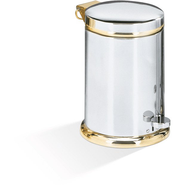 TE 37 SOFTCLOSE Luxury Step Trash Can, Brass Wastebasket With Curved Lid, Softclose System - AGM Home Store LLC