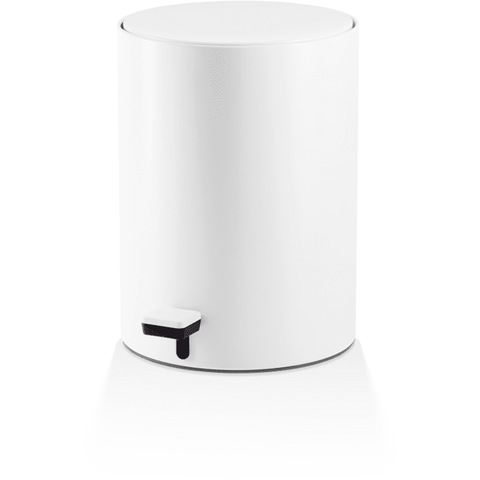 TE 50 SOFTCLOSE Round Pedal Trash Can, Wastebasket With Lid 9.3 Inch, Softclose System - AGM Home Store LLC