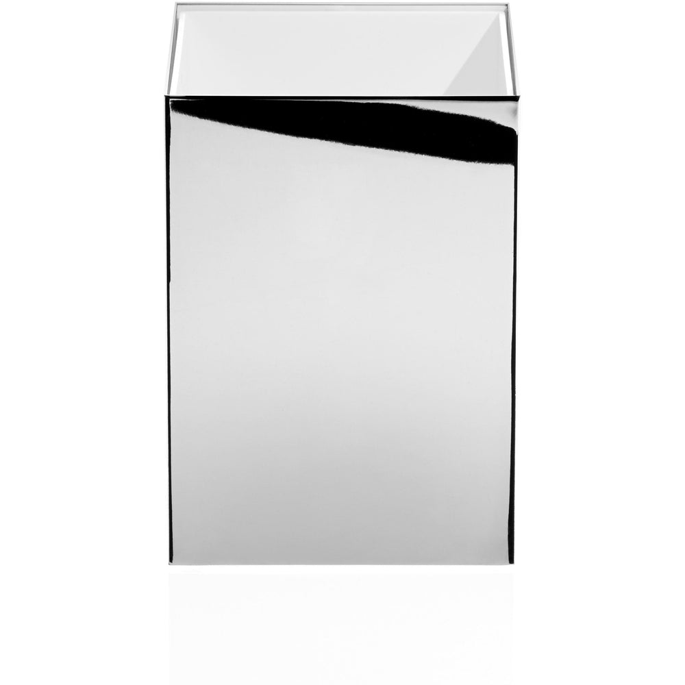 DWBA Square Open Top Wastebasket Trash Can for Bathroom, Kitchen, Office, Brass - AGM Home Store LLC