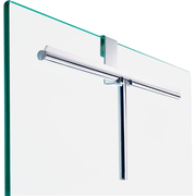 DH 2 Brass Hanging Hook Bathroom Shower Glass Doors 3/8 in. Space to Hang, Chrome - AGM Home Store LLC