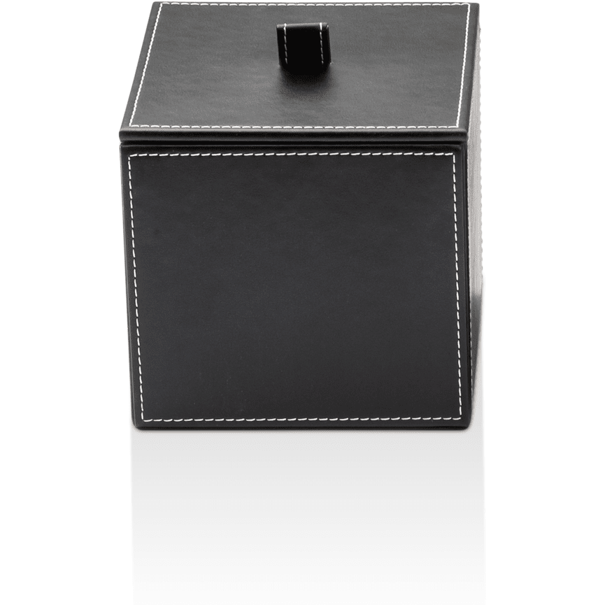 Dwba Black Artificial Leather Cosmetic Storage Makeup And Jewelry Box With Lid