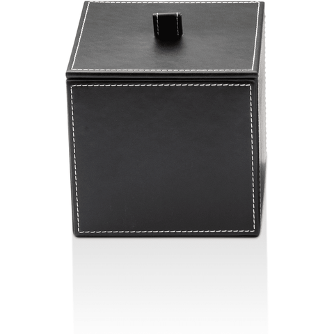 DWBA Black Artificial Leather Cosmetic Storage Makeup and Jewelry Box with Lid - AGM Home Store LLC
