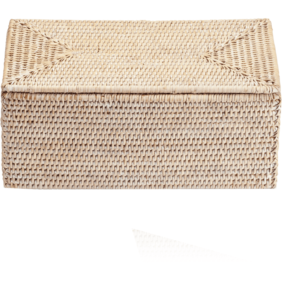 Basket Utbmd Rectangular Rattan Cosmetic Storage Makeup Organizer Beauty Box With Lid