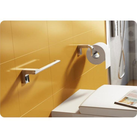 Sonia ELETECH Wall Chrome Toilet Paper Holder Tissue Dispenser Bath, Brass - AGM Home Store LLC
