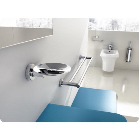 Sonia TECNO Wall Polished Chrome Soap Dish Holder Tray Soap Holder for Bath - AGM Home Store LLC