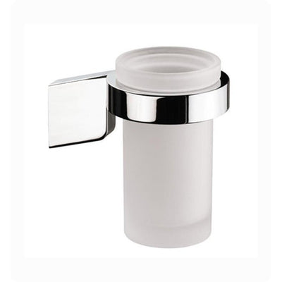 Sonia S3 Wall Mounted Frosted Glass Toothbrush Toothpaste Holder Tumbler, Brass - AGM Home Store LLC
