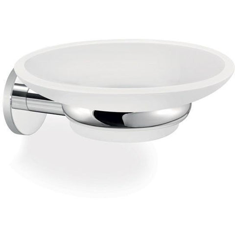 SCBA Twist Wall Mounted Soap Dish Holder Frosted Glass Tray Soap Holder - Brass - AGM Home Store LLC
