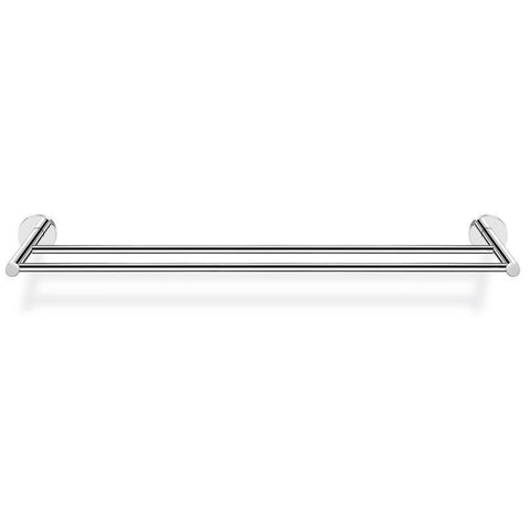 SCBA Twist 23.6 inch Double Towel Bar Rail Holder Hanger Bath Towel Rack, Brass - AGM Home Store LLC