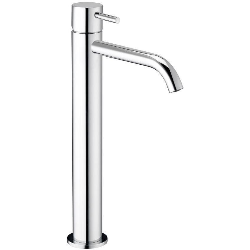 Knob Single Lever Handle Bathroom Vessel Filler Tall Lavatory Basin Faucet - AGM Home Store LLC