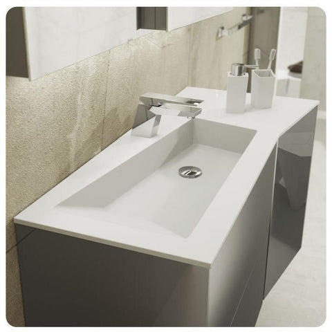 Sonia FRACTAL Washbasin 43 inches Single Drop-In Rectangular RX1 Bathroom Sink - AGM Home Store LLC
