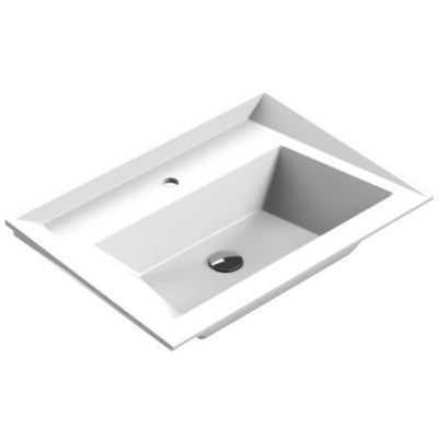 Sonia SCALENE Washbasin 28 inches Single Drop-In Rectangular RX3 Bathroom Sink - AGM Home Store LLC