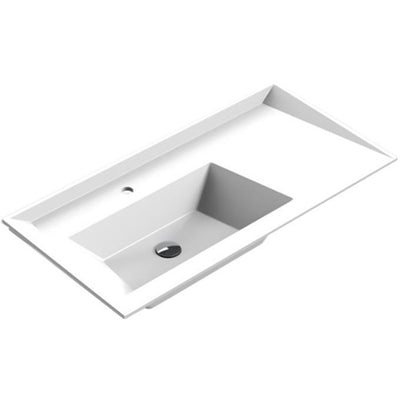 Sonia SCALENE Washbasin 40 inches Single Drop-In Rectangular RX3 Bathroom Sink - AGM Home Store LLC