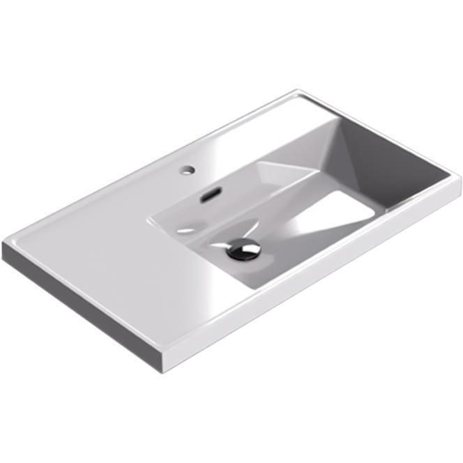 Sonia CODE Washbasin 32 inches Single Drop-In Rectangular MX1 Bathroom Sink - AGM Home Store LLC