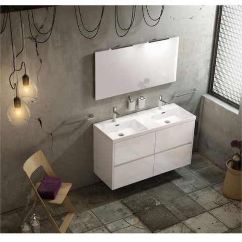 Sonia CODE Washbasin 48 inches Double Drop-In Rectangular MX1 Bathroom Sink - AGM Home Store LLC