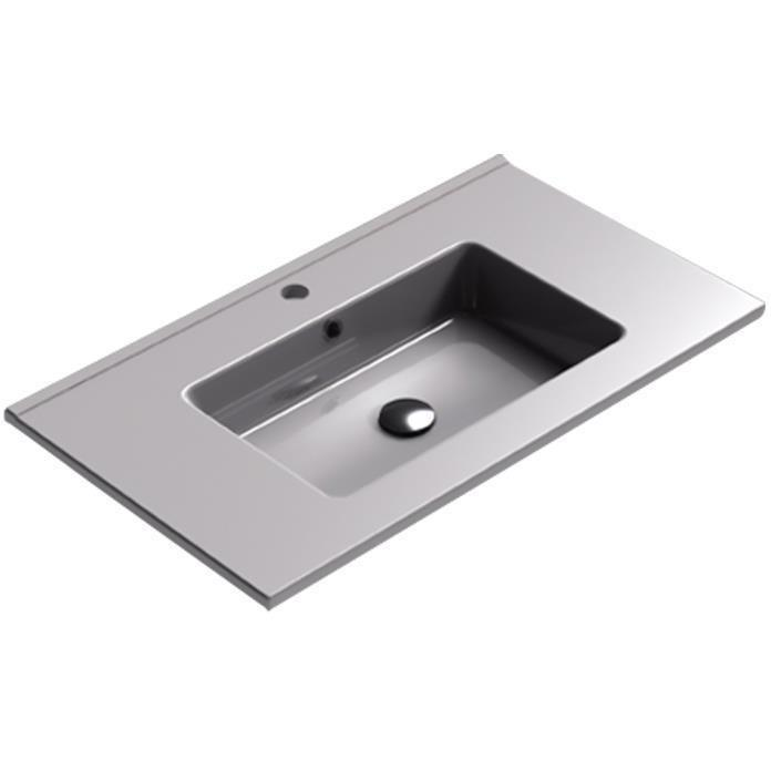 Sonia PLAY Washbasin 32 inches Single Drop-In Rectangular SX7 Bathroom Sink - AGM Home Store LLC