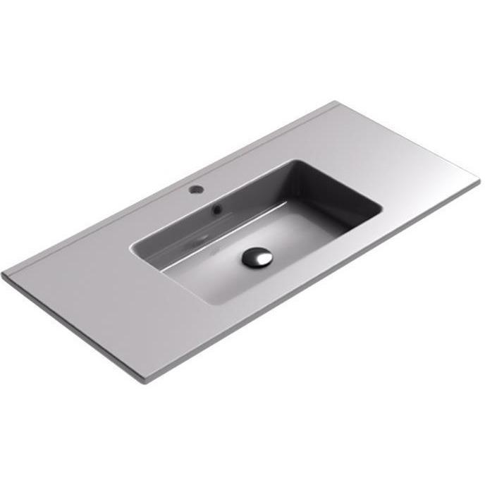 Sonia PLAY Washbasin 40 inches Single Drop-In Rectangular SX7 Bathroom Sink - AGM Home Store LLC