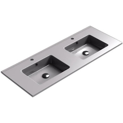 Sonia PLAY Washbasin 48 inches Double Drop-In Rectangular SX7 Bathroom Sink - AGM Home Store LLC