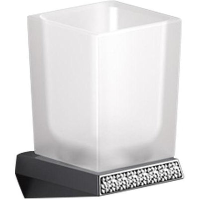 Sonia S8 Wall Mounted Swarovski Toothbrush Toothpaste Holder Tumbler, Brass - AGM Home Store LLC