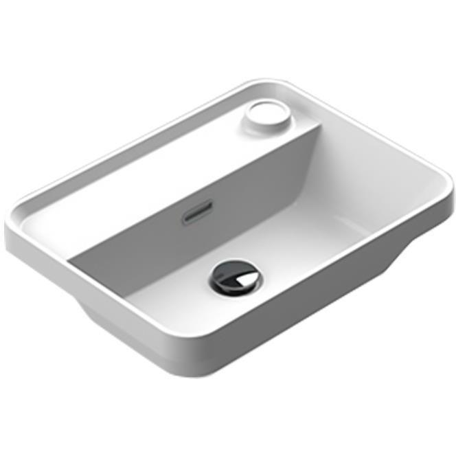 Sonia EVOLVE Washbasin 20 inches Single Drop-In Rectangular MX6 Bathroom Sink - AGM Home Store LLC