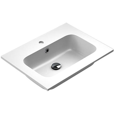 Sonia EVOLVE Washbasin 24 inches Single Drop-In Rectangular MX3 Bathroom Sink - AGM Home Store LLC