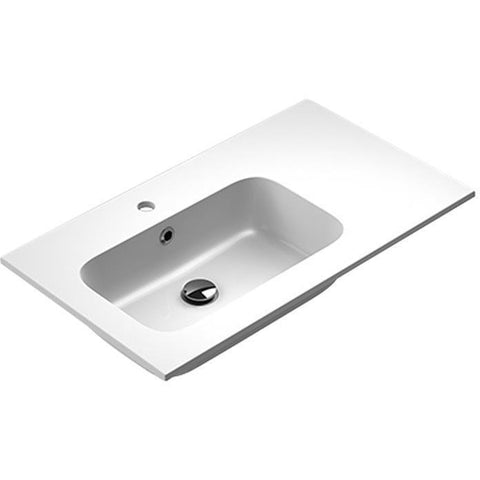 Sonia EVOLVE Washbasin 32 inches Left Single Drop-In Rectangular MX3 Bath Sink - AGM Home Store LLC