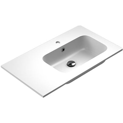Sonia EVOLVE Washbasin 32 inches Right Single Drop-In Rectangular MX3 Bath Sink - AGM Home Store LLC
