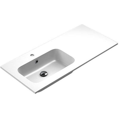Sonia EVOLVE Washbasin 40 inches Left Single Drop-In Rectangular MX3 Bath Sink - AGM Home Store LLC