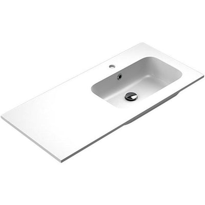 Sonia EVOLVE Washbasin 40 inches Right Single Drop-In Rectangular MX3 Bath Sink - AGM Home Store LLC