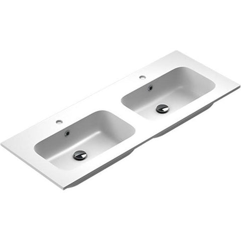 Sonia EVOLVE Washbasin 48 inches Double Drop-In Rectangular MX3 Bathroom Sink - AGM Home Store LLC