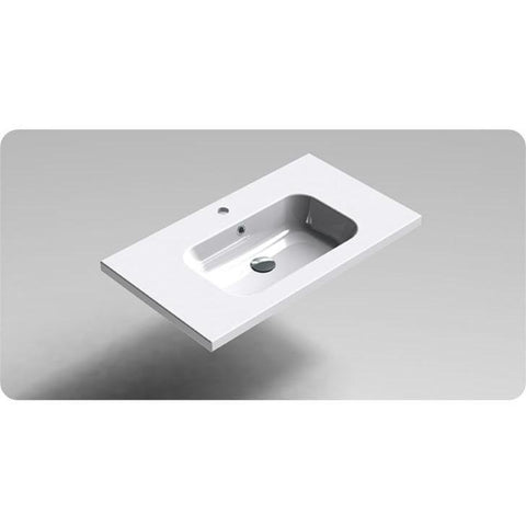 Sonia PLAY Washbasin 32 inches Single Drop-In Rectangular SX9 Bathroom Sink - AGM Home Store LLC