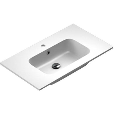 Sonia PLAY Washbasin 32 inches Single Drop-In Rectangular MX3 Bathroom Sink - AGM Home Store LLC
