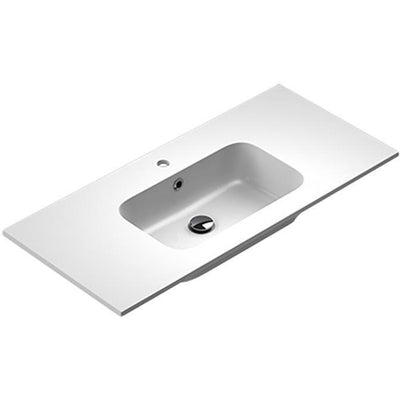 Sonia PLAY Washbasin 40 inches Single Drop-In Rectangular MX3 Bathroom Sink - AGM Home Store LLC